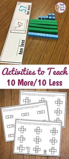 Engaging resources to teach place value concepts especially 10 more and 10 less #math #mathgames #elementary