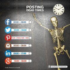 Nicht nur die Reichweitenkürzung von Facebook und anderen Social Networks führt zu niedrigen Klickzahlen und einem geringen Engagement. Manchmal liegt es schlichtweg an der falsch gewählten Uhrzeit, zu der ein Beitrag veröffentlich wurde.#FacebookPost #PostingTimes
