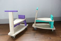 Scrap Wood Ride On Toy Scooter for Toddlers