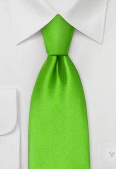 Corbata verde fresco claro