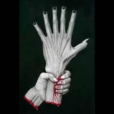 finished? unfinished?  Dear all Thank you for always looking at my works😊  What do you think of this picture?🙆🙅 #originalart #draw #drawing #sketch #painting #picture #pencil #pencilart #myart #artwork #hand #six #fingers #finger #nails #horror #love #horrorart #scary #creepy #instaart #illustration #darkart #instagood #watercolorpencils #blood #japanese #artist #mewart