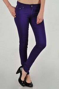 Purple skinny jeans! Purple!