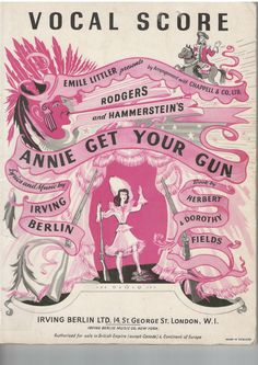 Annie Get Your Gun By Irving Berlin. The story is a fictionalized version of the life of Annie Oakley (1860–1926), a sharpshooter who starred in Buffalo Bill's Wild West, and her romance with sharpshooter Frank Butler.