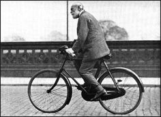 C.P. Scott on his daily ride to the Manchester Guardian, which he edited from 1871 to 1929