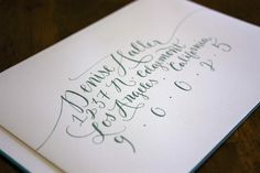 envelope calligraphy - molly jacques