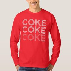 Coca-Cola Logo T-Shirt - Why not have a coke? Coca Cola Logo, Coca Cola Shop, Mens Holiday Shirts, T Shirt, Graphic Sweatshirt, Shirt Shop, Pepsi, Coke, Logo Nasa