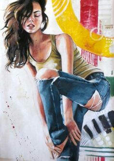 View Thomas Saliot's Artwork on Saatchi Art. Find art for sale at great prices from artists including Paintings, Photography, Sculpture, and Prints by Top Emerging Artists like Thomas Saliot. Thomas Saliot, Art Thomas, Canvas Online, Dance Hairstyles, Torn Jeans, Blue Jeans, French Artists, Bokeh, Colored Jeans