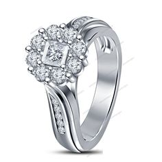 1.00Ct D(Clear) VVS1 Diamond Traditional Design 925 Silver Women's Ring #aonedesigns #SolitairewithAccents