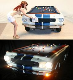 1965 Shelby GT 350 Pool Table I know plenty of guys who would love this gift!