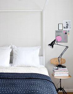 washable graph paper wallpaper
