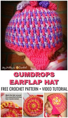 The Gumdrops Earflap Hat will be your next favorite hat patterns for kids (but not only). 🙂 You'll love the thick texture, so warm and comfy. Get the Free Crochet Pattern with Photo