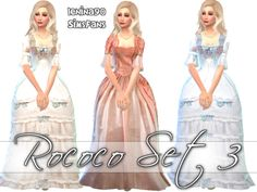 Other dresses inspired by Marie Antoinette style for your Versailles' promenade !I hope you will like these historical gowns Don't claim as your own or re-upload, please.Thank you to Kiara24 of MyStuff for mesh conversion and for her permission!First set HERE!Second set HERE!  DOWNLOAD