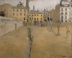 Ramon Casas (1866-1932) Courtyard of the old Barcelona prison , circa 1894