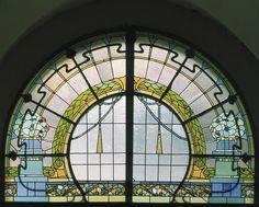 Jugendstil (Art Nouveau) building in Riga, Latvia. (Baznīcas 5)