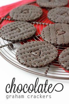 chocolate-graham-crackers - make w/ GF flour and low glycemic sweetener.  YUM!