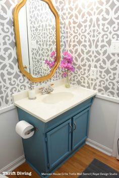 Modern Contemporary Trellis Wall Stencils for Painting - Royal Design Studio