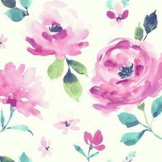 York Watercolor Blooms Lk8315 Wallpaper - York Watercolor Blooms Lk8315 Wallpaper / WATERCOLOR BLOOMS / YWDC11LK8315