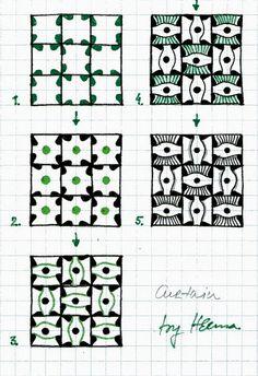 Curtain - Zentangle Pattern