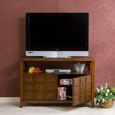 amazoncom sei apothecary double door media stand brown mahogany 26399 amazoncom stein world furniture anna apothecary