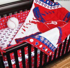 Philadelphia Phillies MLB Crib Set With Bumper  #SportsCoverage #PhiladelphiaPhillies