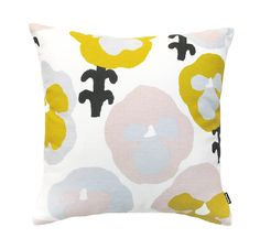 Kauniste cushion covers have beautiful patterns silk screen printed on our signature linen & cotton fabric. The wool blankets and cushion covers are woven in Europe with pure new wool and merino wool. Yellow Cushion Covers, Yellow Cushions, Blue Pillows, Throw Pillows, Nordic Interior Design, Printed Cushions, Silk Screen Printing, Design Art, Pattern Design