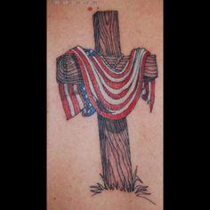 6f50636b07297 Cross and American Flag Daniel Tattoo, Eagle Tattoos, Cross Tattoos,  Tatoos, Diy