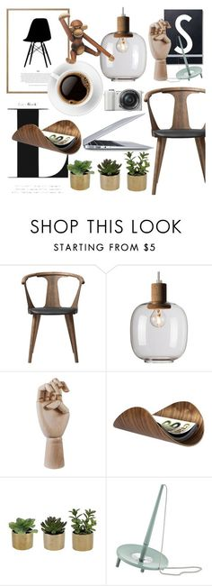 """""""Retro office"""" by sofiehoff ❤ liked on Polyvore featuring interior, interiors, interior design, home, home decor, interior decorating, &Tradition, Design Letters, HAY and Ciseal"""