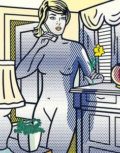 Roy Lichtenstein (1923-1997) Nude with Yellow Flower