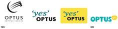 Optus Rebrand by Jason Little, via Behance