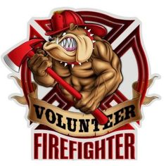 Firefighter Bulldog Metal Sign 18 x 18 Inches Firefighter Decals, Firefighter Shirts, Volunteer Firefighter, Firefighters, Firemen, Firefighter Tattoos, Fire Dept, Fire Department, Metal Signs