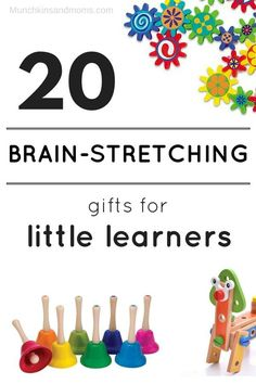 20 Brain-Stretching Gifts for Little Learners- great preschool and toddler gift idea list! gifts for three year olds, gifts for four year olds, gifts for toddlers, gifts for preschoolers