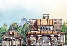 Rustic Farmhouse House Plan - 56155AD thumb - 02