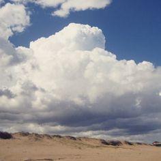 Big clouds coming in over the beach at Mansa near Punta del Este, Uruguay.