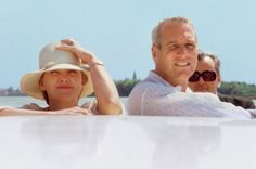 Joanne Woodward and her husband, the late Paul Newman, were among Gore Vidal's most intimate friends for six decades. Here, on one of their many trips to Italy, circa 1980, they are with Vidal on a boat taking them to his cliffside house in Ravello.