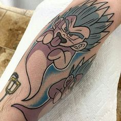"WEBSTA @ dragonball_generation - ""Super Ghost Kamikaze"" featuring a filler sleeve of Gotenks' signature attack when he summons an army of his souls at his target-Artwork by @perjtattoo"