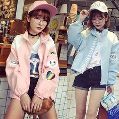 "Pink/blue harajuku jacket SE9623   Coupon code ""cutekawaii"" for 10 % off"