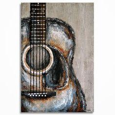 Guitar painting Acoustic guitar art Gift for a musician Acoustic Guitar Art, Guitar Wall Art, Guitar Drawing, Music Wall Art, Guitar Painting, Music Artwork, Guitar Diy, Abstract Canvas Art, Diy Canvas Art