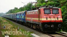 The Legendary Kerala Express in its Full 24 Coach Length!