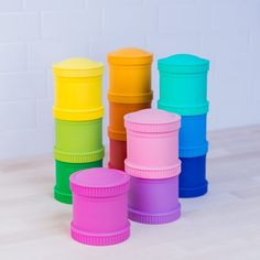 RePlay Snack Stacks are made from recycled milk bottles! They're sturdy, BPA-free and are super handy for taking snacks on the go. They come in a range of bright colours so you can mix and match. Check out the whole RePlay Recycled range. Storage Pods, Smoothie Cup, Baby Alive Dolls, Replay, New Baby Products, Recycling, Lunch Box, Canning, Tableware