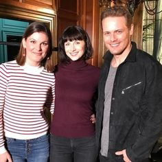 kristindossantos : Reunited and it feels so good!! Having a wee dram of whiskey and a lot of laughs on the #Outlander set with these two epic humans. Thanks for playing and being amazing per usual, @samheughan @caitrionabalfe!! (Guess who's drinking whiskey and who's drinking apple juice .. hmmm … .)