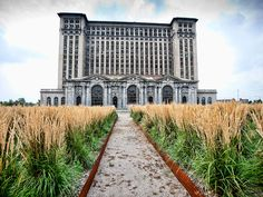 Michigan Central Station. This hulking Beaux-Arts train station was the tallest train station in the world at the time of its construction in 1912. It was designed by Warren & Wetmore and Reed and Stem—the same architects behind New York's Grand Central Terminal—but has been abandoned since 1988.