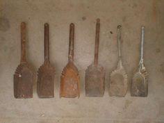 "Antique tin coal shovels 20"".  Price $ 10 each"