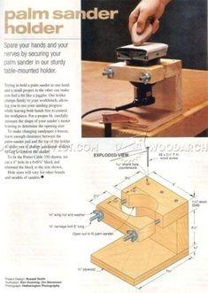 #1148 Palm Sander Holder - Sanding Tips, Jigs and Techniques #woodworkingtips #WoodworkingTips
