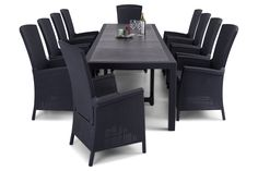 Symphony Spisegruppe med Vermont Lenestol - 10 Lenestoler | Trademax.no Outdoor Furniture Sets, Outdoor Decor, Vermont, Table, Home Decor, Decoration Home, Room Decor, Tables, Home Interior Design