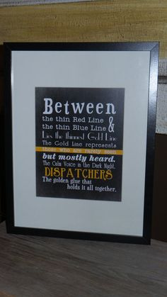 This Dispatcher print will make a great gift for the dispatcher in your life. Prints are made in our smoke-free home. This is made of burlap Goodbye Gifts For Coworkers, Diy Gifts, Best Gifts, Church Outreach, Banquet Decorations, Police Gifts, Work Gifts, Gold Line