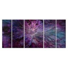 Michael Lang 'Violet Universe' Metal Wall Art | Overstock.com