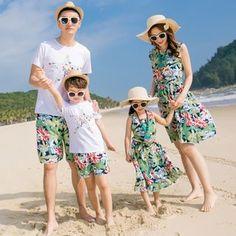 b73d1a6882e Buy Hinode Family Matching Set  Short Sleeve T-Shirt + Floral Print Shorts