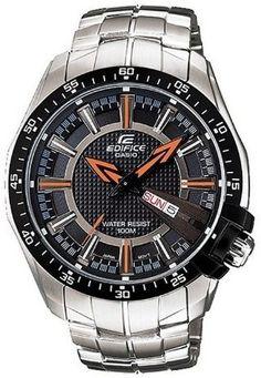Buy Casio ED419 Edifice Analog Watch - For Men @Looksgud.in #black #watch