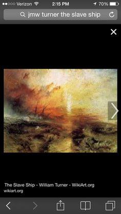 William turner the slave ship 1840 romanticism