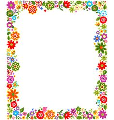 Floral border frame background vector 1187522 - by paul_june on VectorStock®